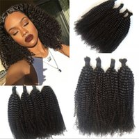 afro braids - 10A Indian Hair Afro Kinky Curly Hair Bulk No Attachment Hair Bulk No Braiding Hair Extensions for Black Women