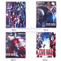 auto bag drop - Captain America Marvel Comics series cartoon tab PU Leather case cover with kickstand For Ipad air Mini Auto sleep wake OPP BAG