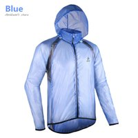 Wholesale Men Ultra Thin Running Raincoat Sports Windproof Jersey Outdoors Waterproof Jacket Jogging Reflective Hoodies Sweatshirts