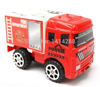 Cheap 1:64 Mini FIREMAN Toy Red Truck Fire Truck Pull Back Car Boy Toy Educational Toy Best Gift For Children