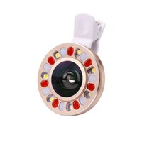 angle eye lights - Portable Selfie Flash External Flash Light LED Fish Eye Wide Angle Clip for Iphone or Samsung bg010