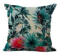 art enjoyment - Tropical Rainforest Flowers Birdsmassager Decorative Pillows Fiber Emoji Enjoyment Home Decor Enhancement Arts Gift