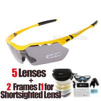 Wholesale RockBros Polarized Lenses Cycling Eyewear with Detachable Myopia Frame Biking Sport Sun Glasses Riding Bicycle Bike Sunglass