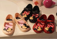 Wholesale Minnie Mouse Shoes Sandals Children cartoon Summer Cartoon Jelly Shoes Toddler colors Kids Girl baby boys Fashion Lovely Shoes OOA108