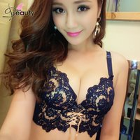 Wholesale Fashion Delicate Embroidery Lace Bra Sets B Cup Adjustable Push Up Bra With Panty Women Intimates