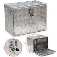 aluminum truck box - 24 quot Aluminum Truck Pickup Underbody Under bed Tool Box Trailer Storage Tool Box