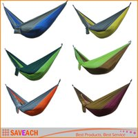 Wholesale 270 cm Multicolor Portable Parachute Nylon Fabric Hammock Travel Camping Outdoor For One Persons Lowest Price