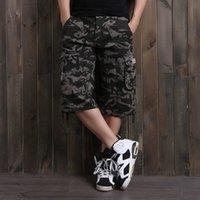 arrival slacks - New Arrival Men Fashion Brand Quality Shorts Summer Leisure Tooling Camouflage Slacks Big Yards Fertilizer Shorts