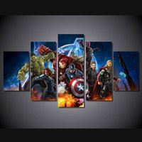 animations wall painting - 5 Set No Framed HD Printed Avengers Animation picture Painting wall art room decor print poster picture canvas deer art painting