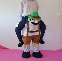 Wholesale Novel piggyback will times clothes mascot costume clothing adults carry me piggy back ride shoulders