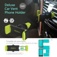 Holder Rocher Car Air Vent Mount Phone Support GPS Support 360 Rotation support ajustable pour l'iPhone 6 6S Plus Pour Galaxy S6