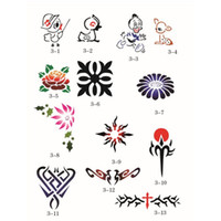 adhesive backed stencils - 100 Designs Self Adhesive Body Art Temporary Tattoo Airbrush Stencils Template Booklet of Butterfly and Animals Booklet