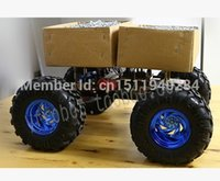 Wholesale WD Cross country Smart car chassis motor with Hall sensor and mm diameter wheels metal car body
