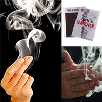 Wholesale 10x Adorable Finger Smoke Magic Trick Magic Illusion Stage Close Up Stand Up factory price Christmas Halloween jok gift
