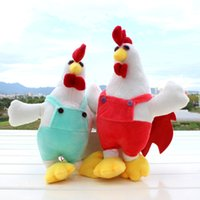 baby rooster - 2016 new Christmas gift Baby Plush Toys Hen rooster mascot dolls Plush Toys Stuffed Animals whole sale cm have colors