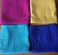 assorted tea - Microfiber Waffle Weave Kitchen Tea Towel Dish Drying Towels Washcloths Face Hand Towels Assorted Colors
