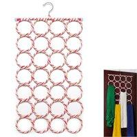 bamboo bathroom decor - Fashion Hole Ring Rope Scarf Wraps Shawl Storage Holder Hook Hanger Decor Room OCEA