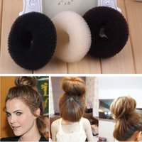 best clips hair salon - Colors XXL size Womens Girls Best hair clip cm mix hair band Useful hair bun Nice Donuts Salon hair tool Ring Shaper Styler