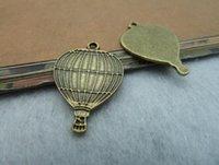 balloon connectors - 100pcs Ancient bronze alloy small balloon c2201 x25mm