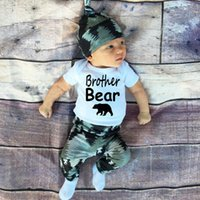 baby bear deer - 2016 baby christmas three piece arrow bear hat deer rompers pp pants baby winter outfits sets