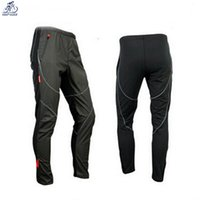 Wholesale Bike Jersey Outdoor Winter Cold Wind Warm Fleece Pants Men And Casual D Silica Gel Bike Seat Cushion Breathable Trousers