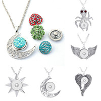 Wholesale 2016 Styles NOOSA Metal Ginger Snap Button Pendants Necklace With Crystal Fit mm Button DIY Trendy Jewelry Accessory