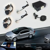 blinds - Universal Car Blind Spot Detection Assist System Parking Sensor With Black White Silver Rear Sensors And Buzzer For Auto Parking