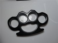 Wholesale 2 GILDED THICK STEEL BRASS KNUCKLE DUSTER knuckle duster brass knuckle clutch knuckle knives self defense tool