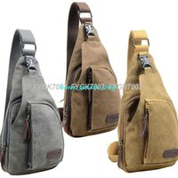 Wholesale Fashion Vintage Men Messenger Bags Casual Outdoor Travel Hiking Sport Casual Chest Canvas Male Small Retro Military Shoulder Bag
