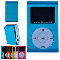 Wholesale 7 Color Mini Small Clip MP3 Music Player LCD Screen Support GB TF Card Slot Mini USB and TF Card Slot FDA1038 S11