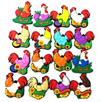 Wholesale Mix Sales Animals Style PVC Fridge Magnet Rooster Pattern Refrigerator Magnetic Sticker For Home Decoration Fridge Decals