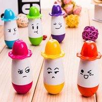 ballpoint pen lot retractable - Hat Shape Retractable Ballpoint Pen Children Kid Writing Pens Toy Pens Stationery Material Escolar