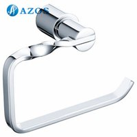 Wholesale AZOS Wall Mounted Toilet Paper Holders Bathroom Accessories Shower Hardware Components Chrome Polished Finish Silver Color GJKE9305