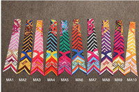 Wholesale 10 Color stripe match Letter Lady Silk Twilly Scarves Bags Scarf Small Ribbon Hair Band Bandeaus