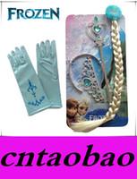 Wholesale Promotion Frozen Party Supplies Accessories Elsa Anna Crown Magic Wig Wand Glove Princess Crown Hair Accessories