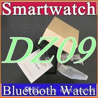 android cell phone watches - 10X Smartwatch Latest DZ09 Bluetooth Smart Watch With SIM Card For Apple Samsung IOS Android Cell phone inch DHL Free HOT B BS