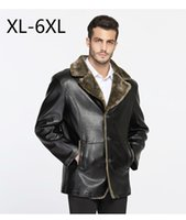 big leather jackets - Big Size Men Winter Coat PU Leather Jacket Fur Collar Thicken Warm Jeans Wool Clothes Brand Clothing Outwear Waterproof XL XL