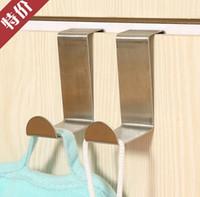 Wholesale 2Pcs set For Kitchen Hanging Hanger Holder Door Hooks Hanging Coat Cloth Strong