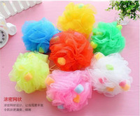 Wholesale Bath Shower Body Exfoliate Puff Sponge Mesh Net Ball sponge Bath ball Scrubbers DDG2