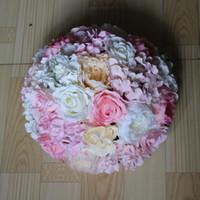 ball guides - EMS CM wedding paths guide road lead flower hydrangea flowers flower decoration balls table centerpiece