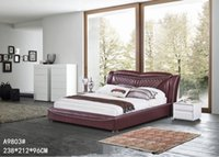leather furniture - GENUINE LEATHER PINK ELEGANT STYLE MODERN SIMPLE DOUBLE PERSON FASION FURNITURE GOOD QUALITY cm AFA9803
