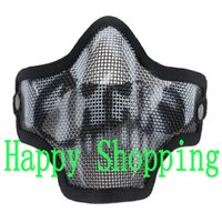 airsoft net - Tactical Airsoft Metal Mesh Net Hunting Protect Face Mask