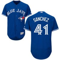 Wholesale 2016 new arrival Men Aaron Sanchez Toronto blue jays Home Road MLB Baseball Jerseys White Blue Red Gray
