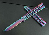 atmosphere sales - Factory direct sale butterfly rainbow knife high hardness corrosion resistance wear resisting exalted atmosphere Entertainment tool