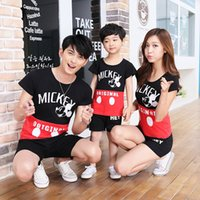 Wholesale Family Matching Outfits Look Clothing T shirts Clothes Apparel Shirts Top For Mother And Daughter Father Son Man Woman Suits NEW