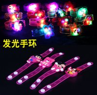 bangles for children - Fun Soft Jelly Light Up LED Bracelets Bangle Wristband Party Favors For Children Kids New Year Children Day High Quality