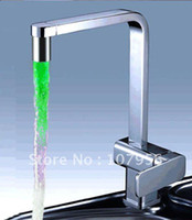 Wholesale brass chrome plated color changing led faucet