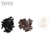 Cheap Neitsi 50pcs Black Brown Transparent Italian Glue Keratin Bonding Glue Fusion Flat Tip For Hair Extensions Fusion Human Hair