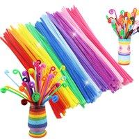 Wholesale 500PCS Kids Chenille Stems Children Handmade Materials educatif Kids DIY Toys Plush Shilly Stick Handmade Art Craft DY15