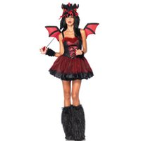 adult tutus - Deluxe Horrific Dragon Tutu Skirt Wings Hood and Fur Cover Boot Dragon Costume Cute Sexy Girls Sexy Adult Costumes L15145